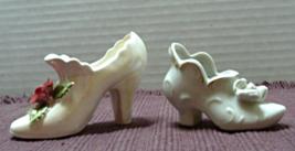 Vintage Miniature PORCELAIN Decorative Shoes // Norcrest // Made in Japan - $12.00