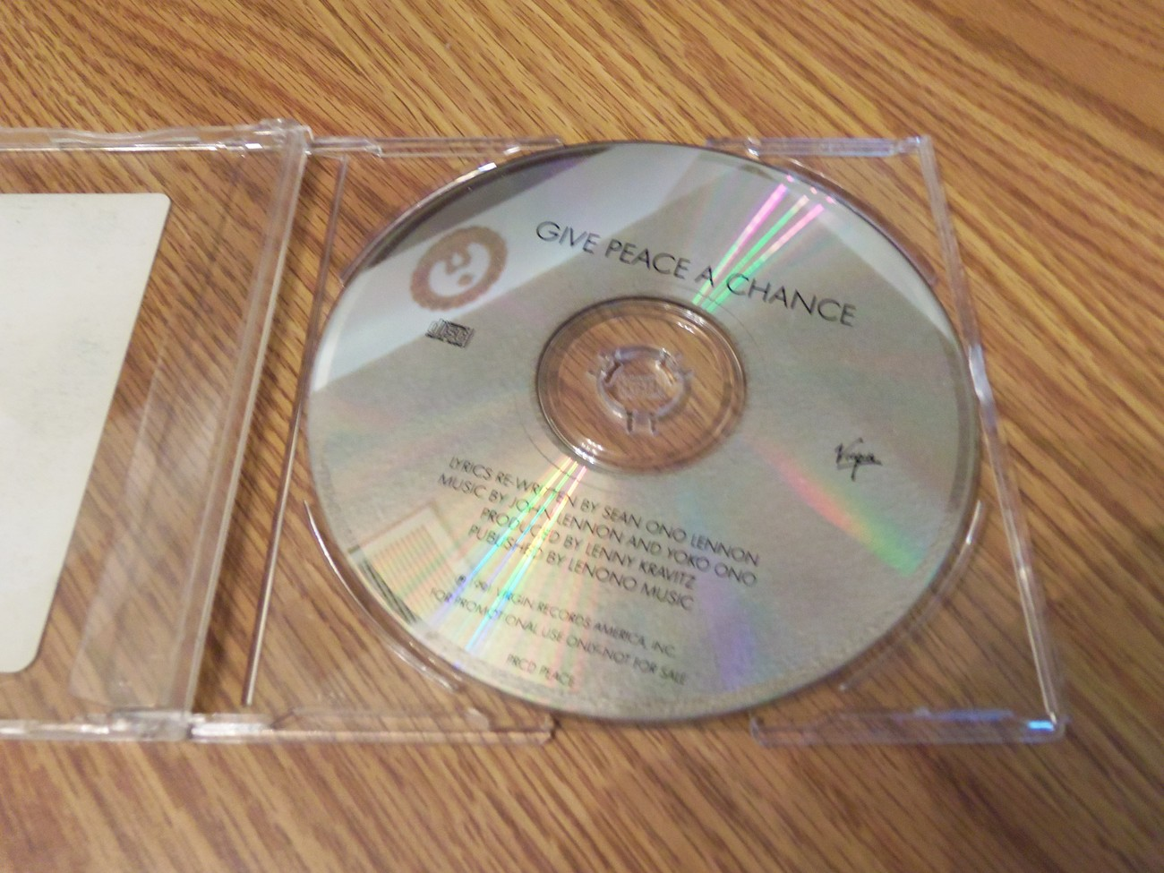 Give Peace A Chance 1991 Virgin Promo Cd Lennon Peter Gabriel Tom Petty Iggy