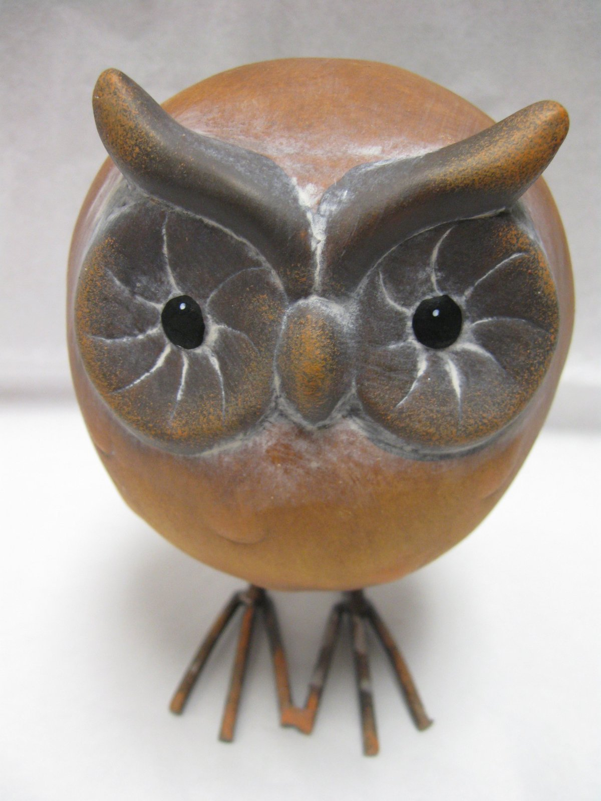 "Primary image for Owl Figurine Medium Round Terracotta 5.5"" Tall [Brand New]"