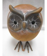 "Owl Figurine Medium Round Terracotta 5.5"" Tall [Brand New] - $23.73"