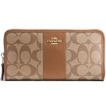 Accordion Zip Wallet In Signature Coated Canvas With Leather Stripe (Coa... - $114.99