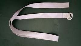 "5SS88 TIE-DOWN STRAP FOR TV, 66"" X 1-1-/2"", DOUBLE D-RINGS, WHITE,  GOOD... - $8.66"