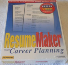 "Resume Maker with Career Planning [Windows ~ CD-ROM & 3.5"" Disk] Brand New - $16.70"