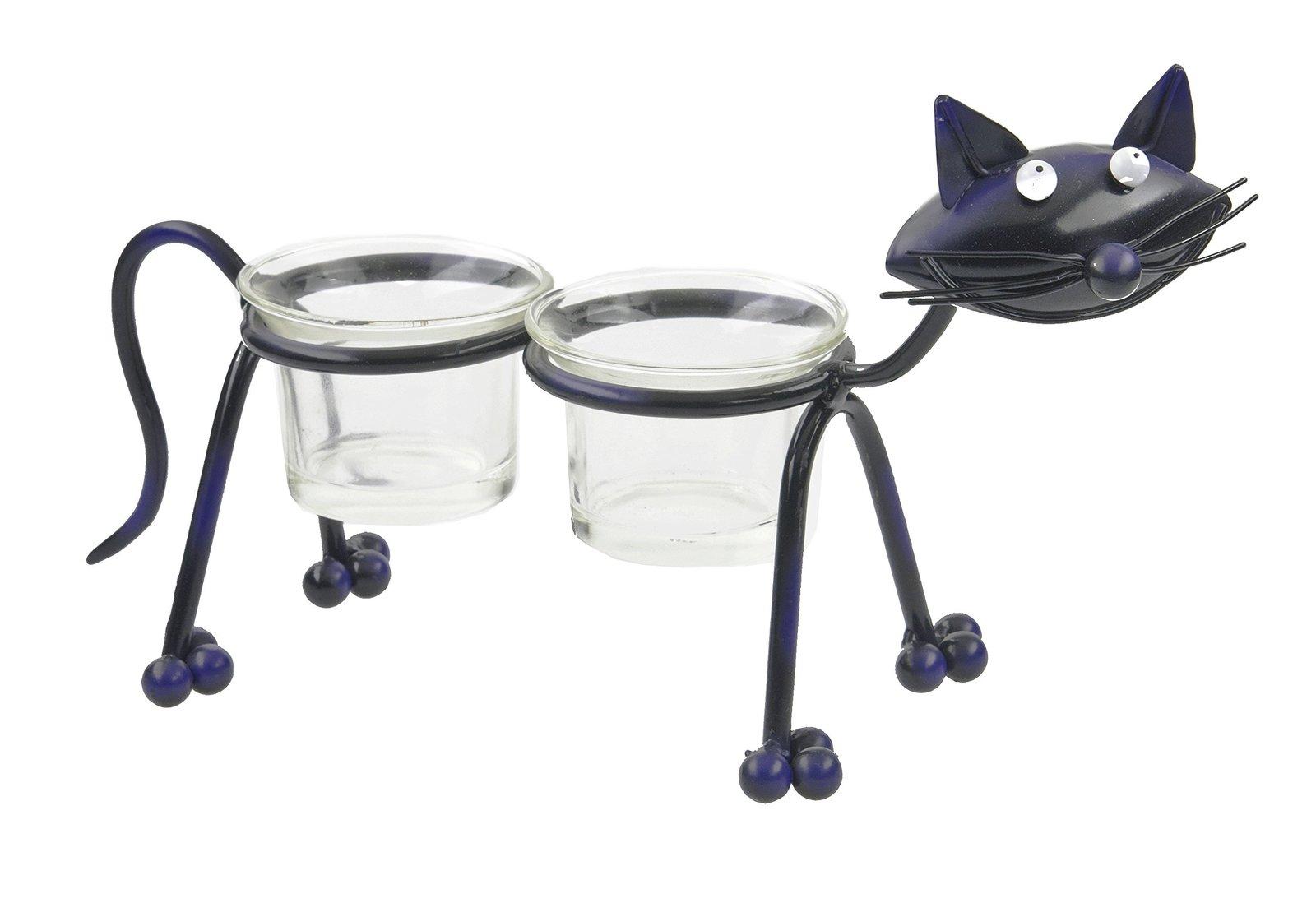 Black Cat Double Votive Holder [Brand New] - $18.33