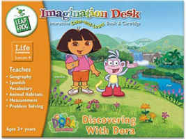 """Leap Frog: """"Discovering with Dora"""" Interactive Color-and-Learn Book & Ca... - $18.33"""