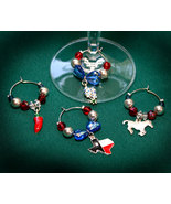 Texas Country Beaded Wine Glass Charms 02 - $12.95
