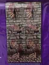 Gothic Dungeon SKELETON HANDS DOOR COVER Stone Wall Poster Mural Prop De... - $3.93