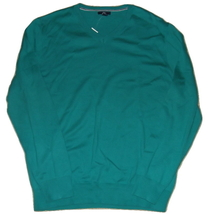 Gap Mens Sweater Size L Green Lightweight Cotton V Neck New - $14.00