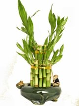 KL Design & Import - 2 Tier Bamboo Tower in a Hand Made Ceramic Fisherma... - £13.89 GBP