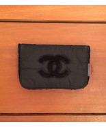 Vintage CHANEL Black Beauté Pouch with Polar Fleece Lining - $35.00