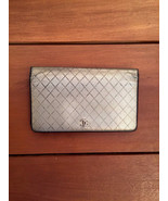 CHANEL Silver Leather Bifold Long Wallet - $145.00