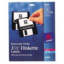 """Avery 3-1/2"""" Diskette Labels [Brand New] Removable White - $29.57"""