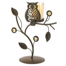 Iron Candle Holders, Decorative Earthy Colored Stand Candle Holders Set - $19.99