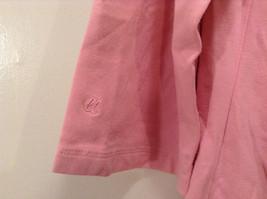Maternity Liz Lange Stretch Pink Tee Blouse 3/4 sleeve size XXL Deep Scoop Neck image 8