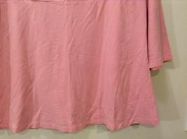 Maternity Liz Lange Stretch Pink Tee Blouse 3/4 sleeve size XXL Deep Scoop Neck image 4
