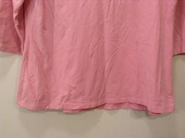 Maternity Liz Lange Stretch Pink Tee Blouse 3/4 sleeve size XXL Deep Scoop Neck image 7
