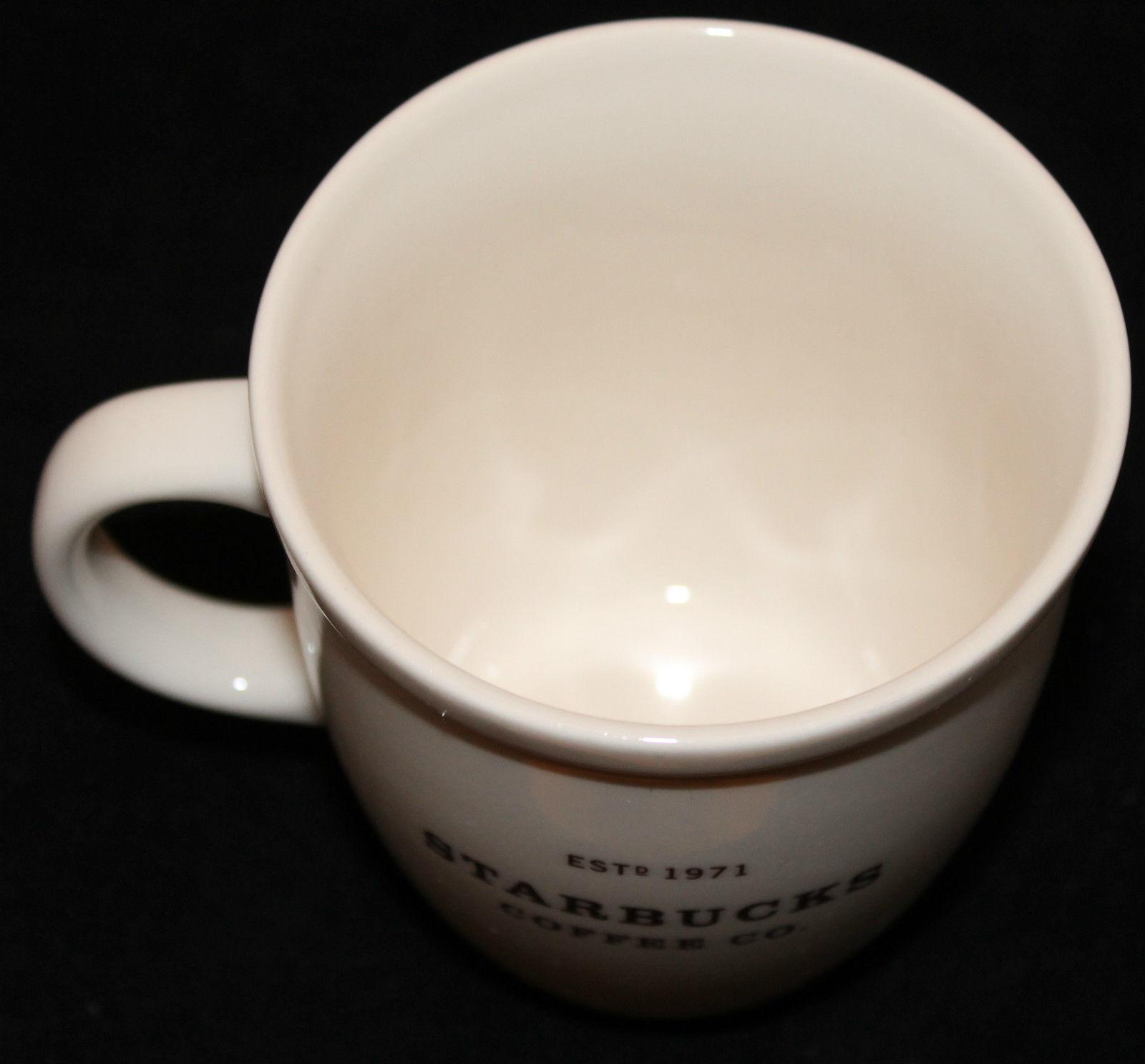 Starbucks Coffee 2006 White Estd 1971 16 oz Coffee Tea Mug Cup