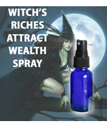 HAUNTED EXTREME WITCH'S RICHES WEALTH SPRAY ATTRACT MONEY WEATLT SCHOLARS  - $34.00