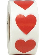 Red Heart Stickers Valentine's Day Crafting Scrapbooking 0.75 Inch 500 A... - $11.24