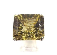 14k Yellow Gold Women's Vintage Cocktail Ring With Diamonds And Citrine Quartz  - $1,185.78
