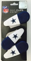 Dallas Cowboys NFL Magnetic Bag Clips [3 Pc. Set, Brand New]  - $12.80