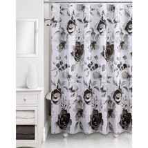 "Shades of Gray Floral Motif Shower Curtain, Black/White, Peva 70"" x 72"" ... - $19.98"