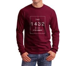 THE 1432 fifth harmoni Longsleeve Men MAROON - $21.00