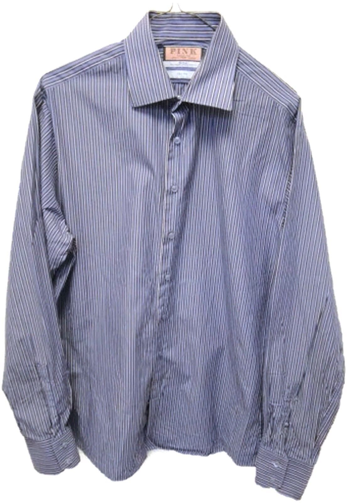 eefd39f551e88c Thomas Pink Slim Fit Shirt 16 1/2 Blue White and 26 similar items. 57