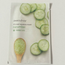 Real Cucumber Squeeze Mask Sheet Keeping Moisturized and Clean 20ml X 1ea - $2.97