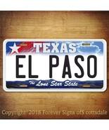 El Paso Texas City/College Aluminum Vanity License Plate - $12.82