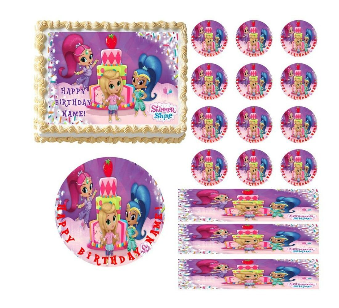 SHIMMER and SHINE Edible Cake Topper Image Frosting Sheet ...