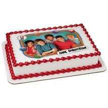 "4"" Round One Direction-Big Crush Edible Image Cake Topper - $10.50"