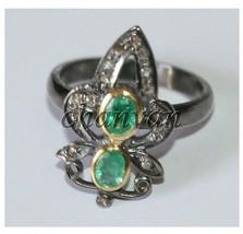 Vintage Look 0.36 Ct Rose Cut Diamond 925 Sterling Silver Ring @CJUK632 - $3.137,02 MXN