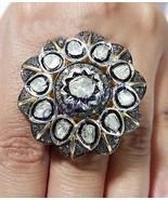 Vintage/Antique Look 2.50Ct Rose Cut/Polki Diamond 92.5% Silver  Ring @C... - $439.33