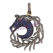 Vintage Repro. Artisan Rose Cut Diamond 925 Sterling Silver Pendant @CJU... - $7.626,99 MXN