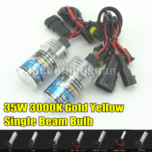 2X 35W 3000K XENON HID BULB LIGHT GOLD YELLOW H1/H3/H7/H8/H11/9005/9006/... - $7.99