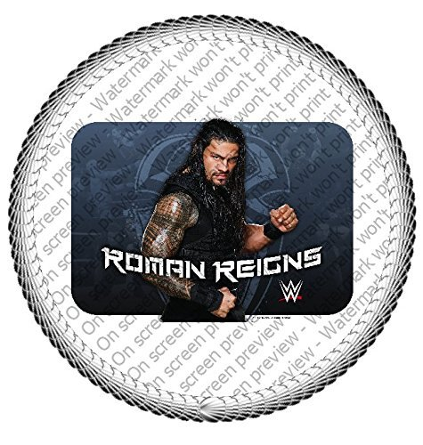 3 Quot Round Wwe Roman Reigns Edible Image Cake Topper Other