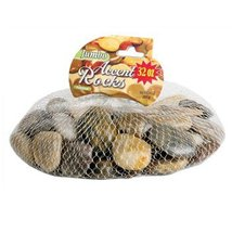 Polished Multi-Toned River Rock (Brown, Gray, Black), 32 oz bag by Craft... - $3.99