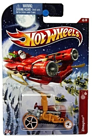 Primary image for Hot Wheels Holiday Hot Rods Dragtor Red #8/8 [Brand New]