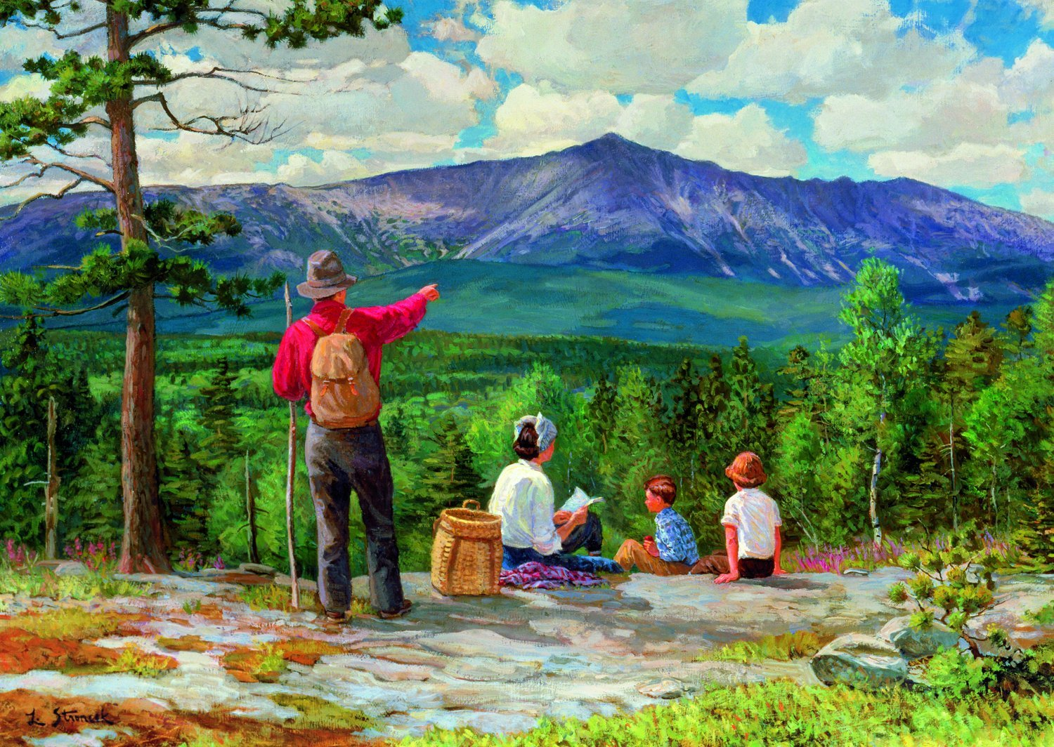 "The Great Outdoors: 500 Piece Jigsaw Puzzle ""Family Picnic"" The Great Outdoors"