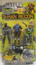 "The Corps 3-Man Recon Covert Command 3 3/4"" Action Figures with Stealth ... - $18.22"