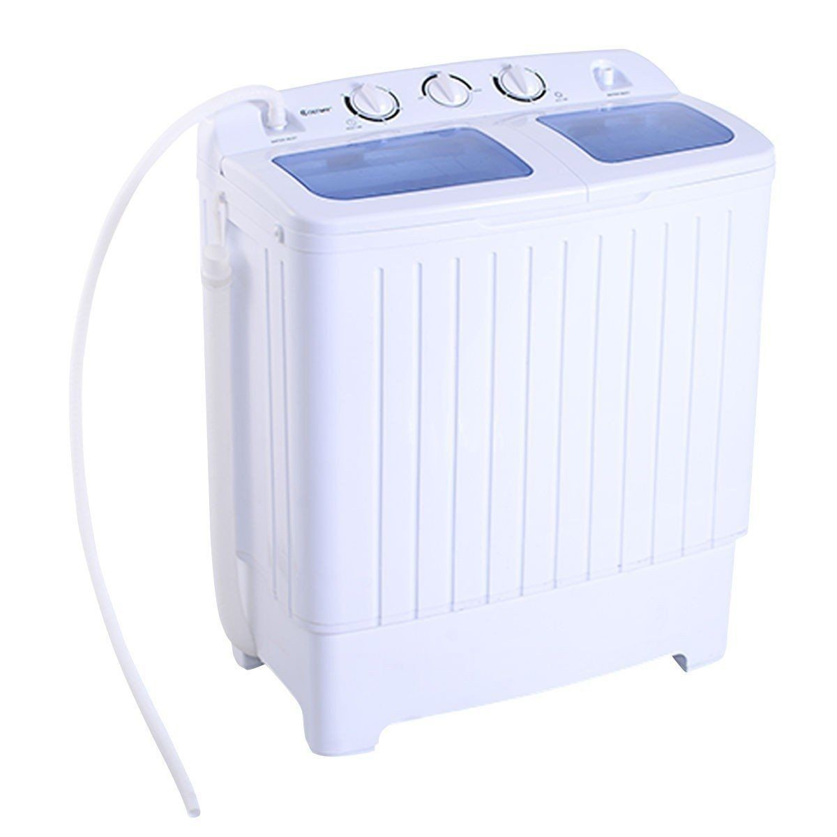 Portable washing machine washer and clothes dryer top loading electric compact washer dryer sets - Small space washing machines set ...