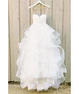 White twisted wedding dress thumbtall