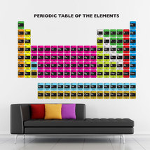 Periodic Table of The Elements Vinyl Wall Art Decal (WD-0794) - $32.99