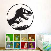 T-Rex Skeleton in Circle Jurassic Vinyl Wall Ar... - $25.99