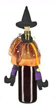 Orange & Purple Wicked Witch Halloween Wine Bottle Stopper [Brand New] - $14.36
