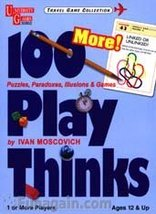 100 More! Play Thinks Card Game [Cards] Ivan Moscovich - $19.72