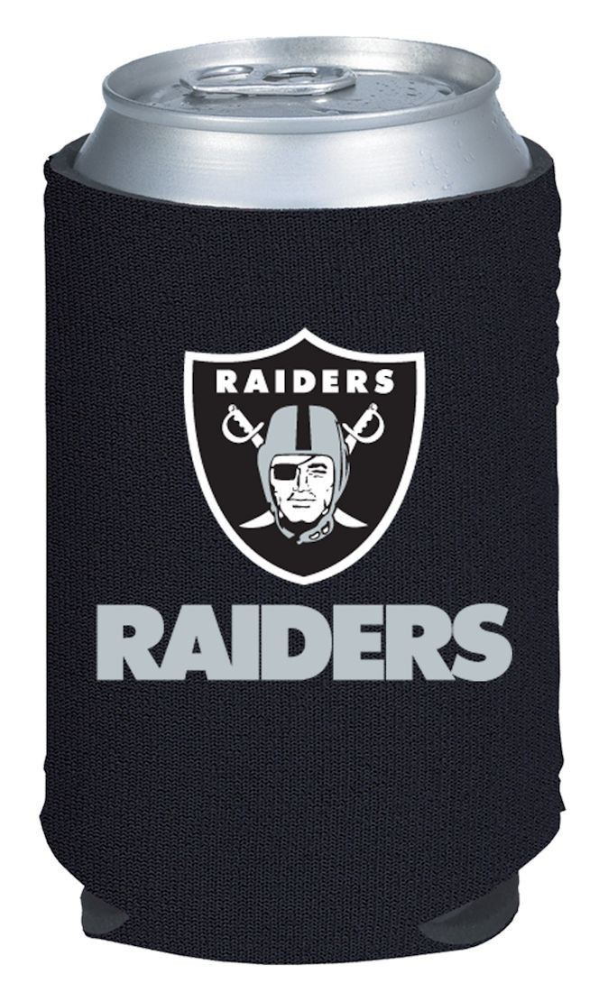2 OAKLAND RAIDERS BEER SODA WATER CAN KADDY KOOZIE HOLDER NFL FOOTBALL