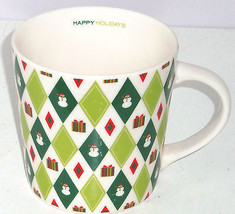 Starbucks Christmas Coffee Mug 2003 Snowman Presents Retired Cup Barista - $44.95