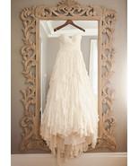 Tiered chiffon wedding dress with removable sash  2  thumbtall